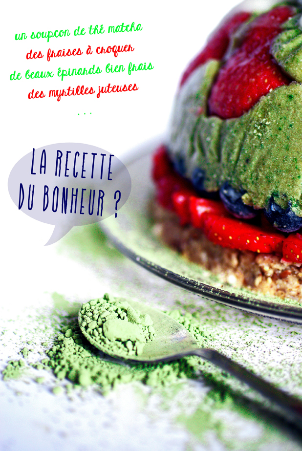 Bombe matcha-coco-fraises - Antigone XXI