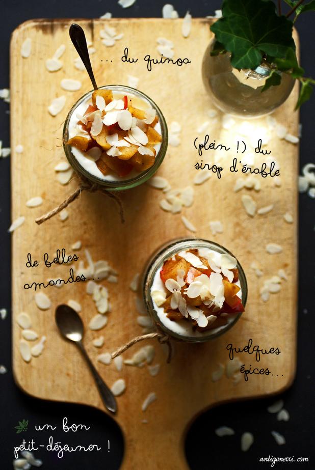 Apple-Pie Quinoa Parfait - Antigone XXI
