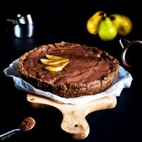Tarte aux poires & crème de chocolat