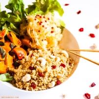 Quinoa foufou aux cranberries et noix de cajou