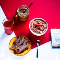 Pudding maison & smoothie gourmand