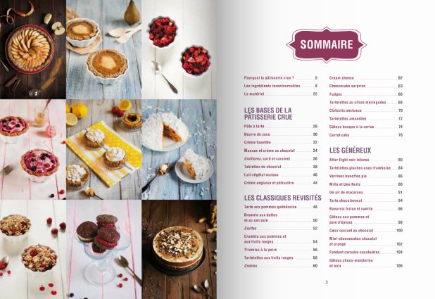 Pâtisserie crue - sommaire - Antigone XXI