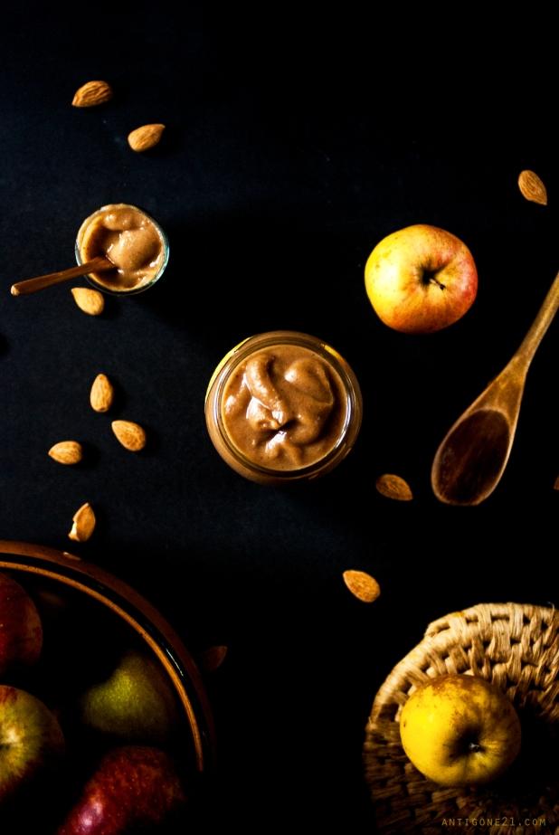 Beurre de pomme {amandes, cidre & sirop d'érable} - Antigone21.com