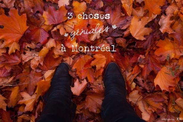 3 choses géniales à Montréal - Antigone21.com
